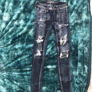 AEO Super Stretch Ripped Jeans
